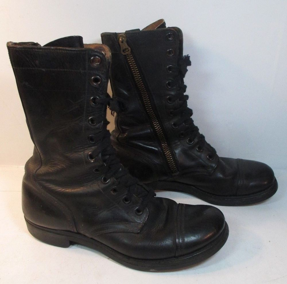 f851296365e54 VINTAGE B.F. Goodrich Heel Sz 9.5 D Military Motorcycle Work Boots ...