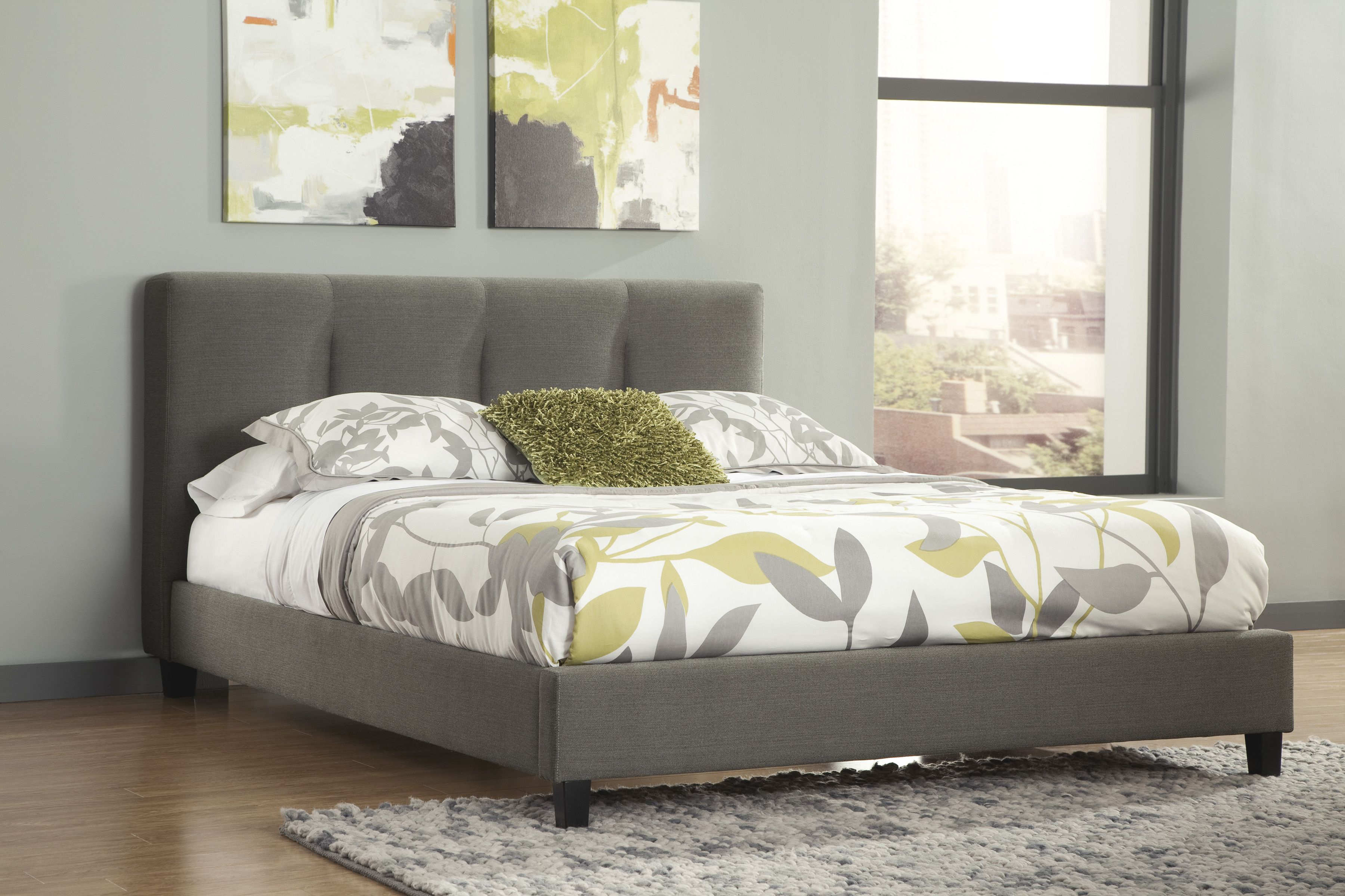 How soft and comfortable #bed in your #room ! #Ashley #