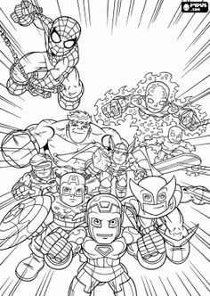 marvel superheroes super hero squad coloring page  online coloring  avengers coloring