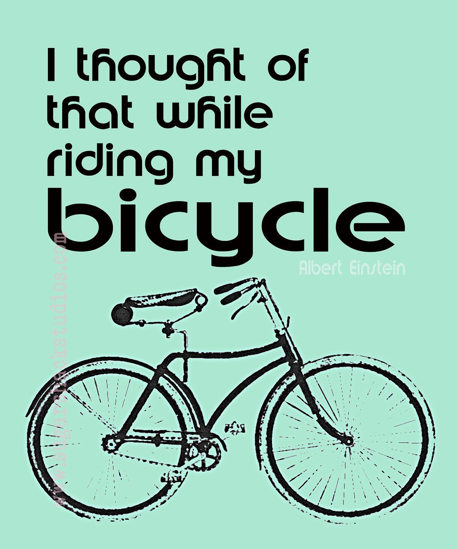 Einstein Vintage Green Bicycle Quote Etsy Bike Quotes Bicycle Quotes Green Quotes