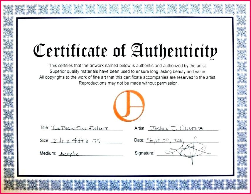 Printable Certificate Of Authenticity Templates In 2021 Printable Certificates Certificate Certificate Templates