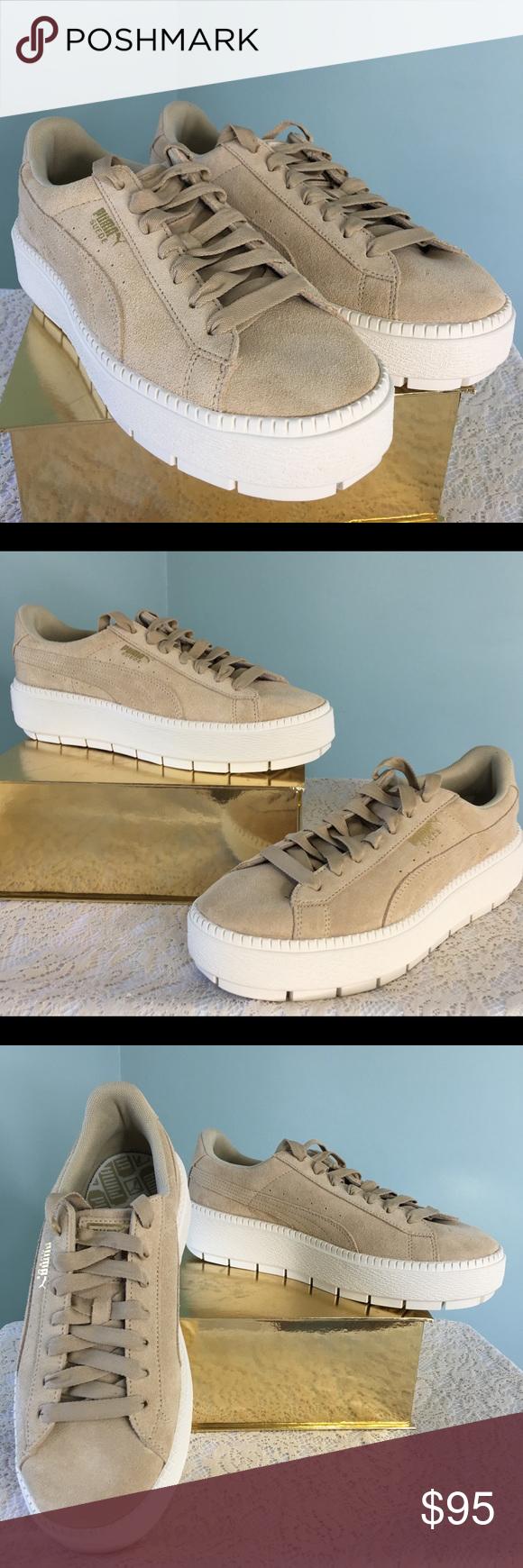 Puma Suede Platform Tan Sneakers NWT NWT | Fashion, Tan