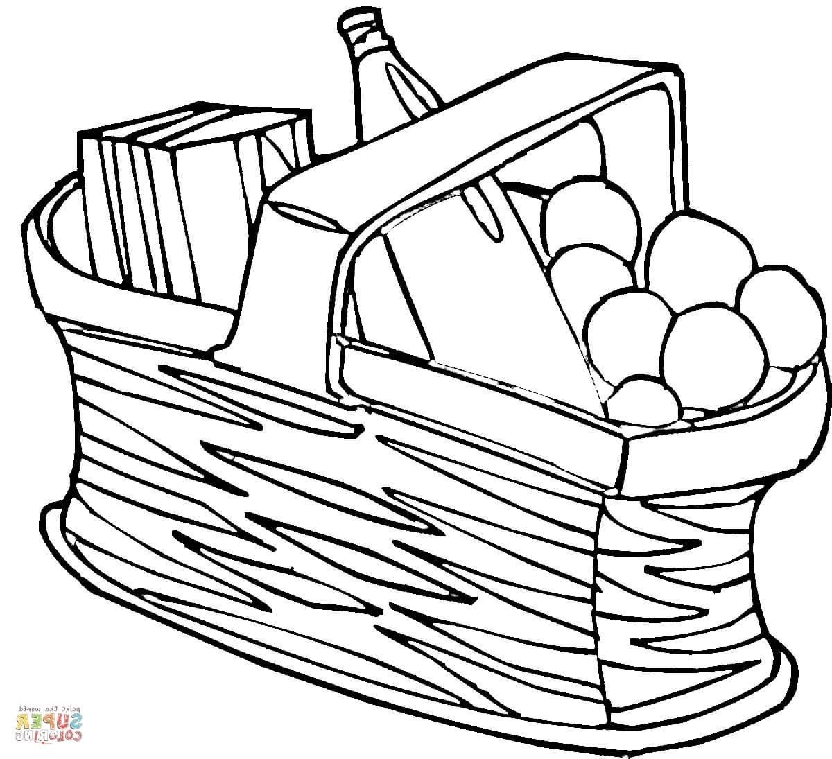Coloring Pictures Of Picnic Baskets