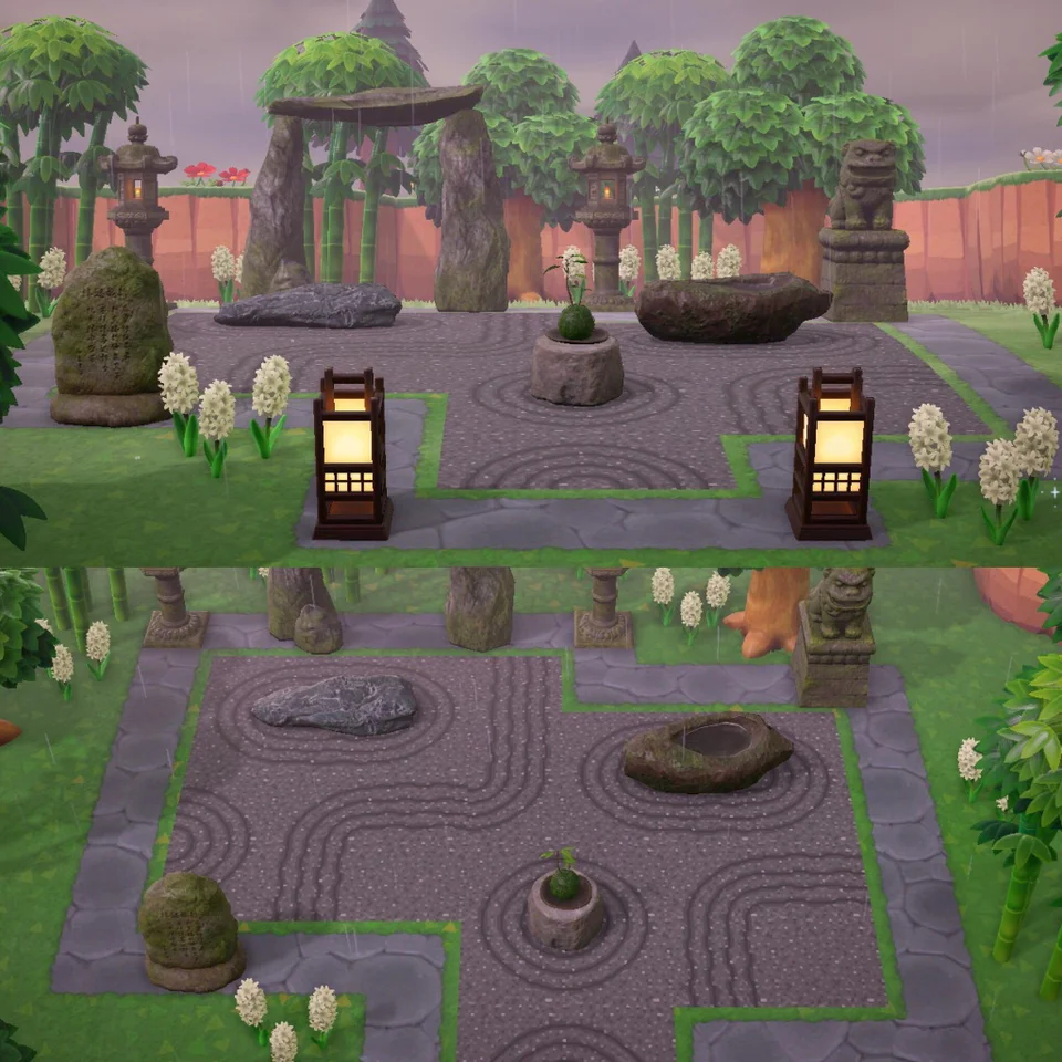 My zen garden - expanded : AnimalCrossing in 2020 | Animal ...