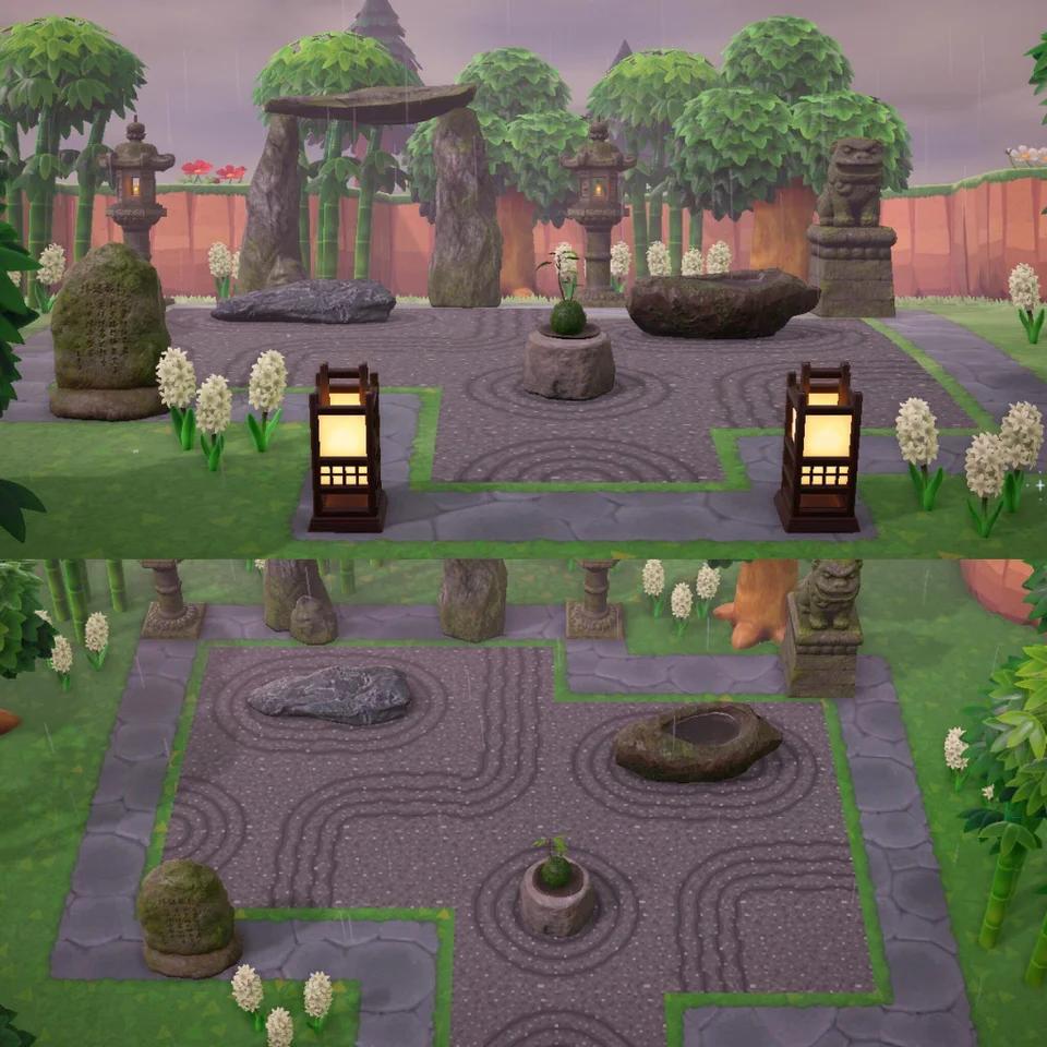 My zen garden expanded AnimalCrossing in 2020 Animal