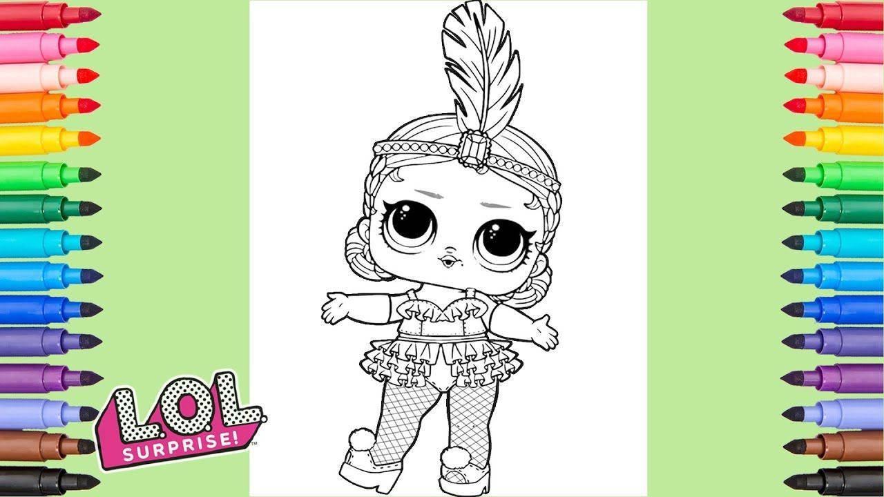 lol surprise dolls show baby coloring pages | candy