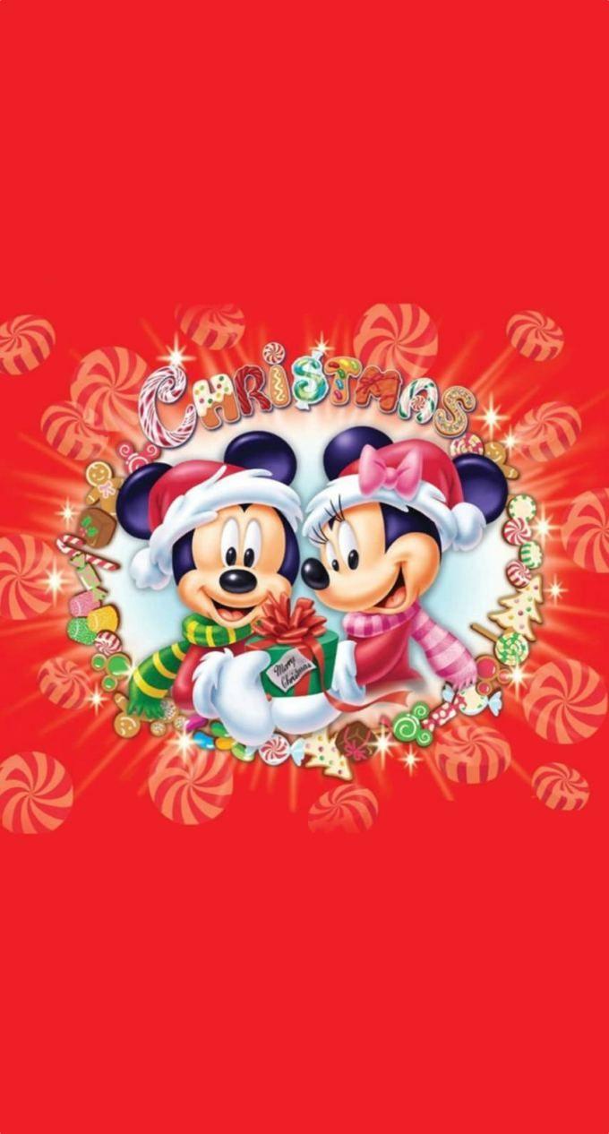 ミッキーとミニーのクリスマス Iphone壁紙 Wallpaper Backgrounds