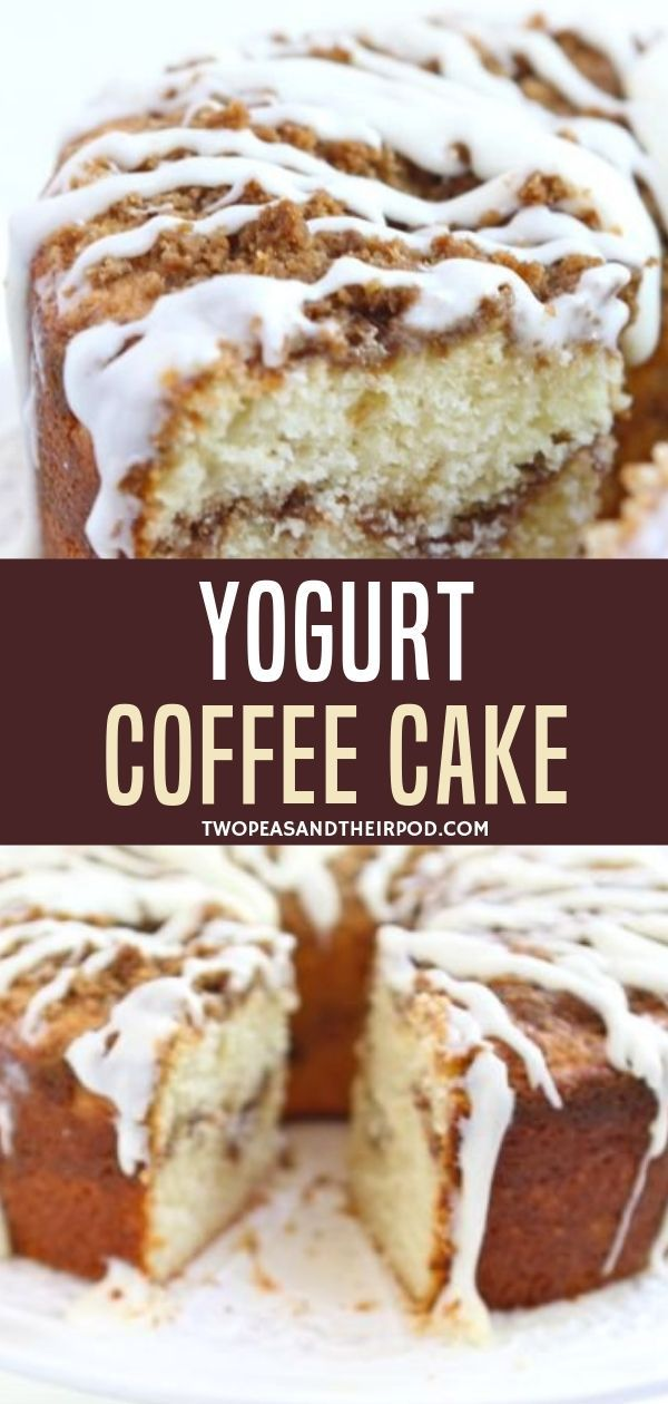 This Greek Yogurt Coffee Cake Has A Cinnamon Streusel Filling And Topping And Is Finished Of Coffee Cake Recipes Yogurt Coffee Cake Recipe Greek Yogurt Recipes