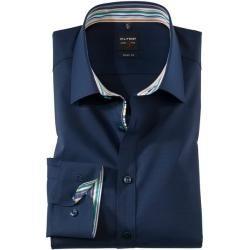 Photo of Olymp Level Five Hemd, body fit, New York Kent, Nachtblau, 40 Olymp