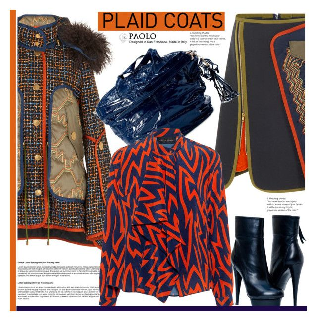 """""""Pattern Mix: Plaid Coats and PaoloShoes"""" by paoloshoes ❤ liked on Polyvore featuring Peter Pilotto and Karen Walker"""