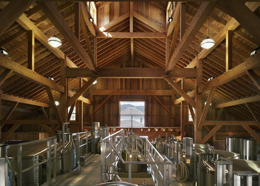 Nickel & Nickel Winery - Fermentation Room Napa Valley, California ...