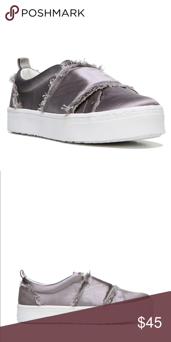 825acfd60e4c7 Levine Frayed Satin Platform Slip-On Sneakers Sam Edelman s sneakers prove  that satin works just