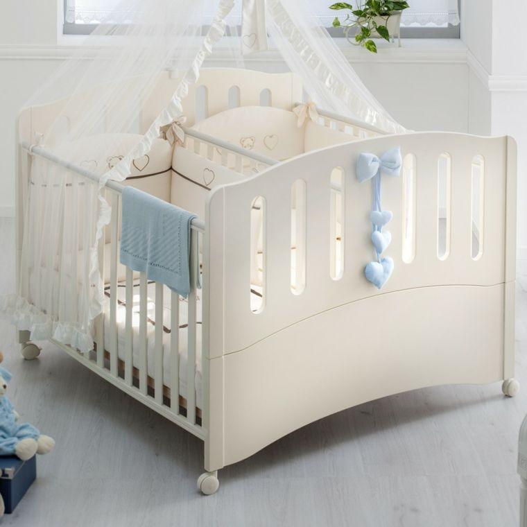 Cunas Para Bebes 75 Opciones Para El Recien Nacido Kids And - Cuna-para-gemelos