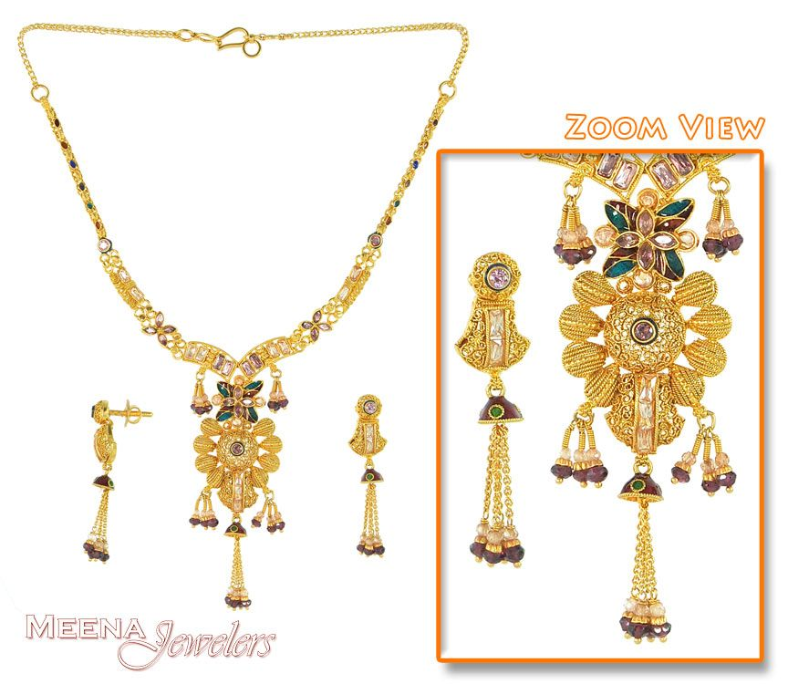 Gold Jewellery Designs Necklace - See more stunning jewelry at ...