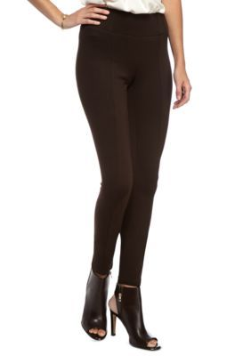 New Directions Chocolate Ab Shaper Ponte Pants