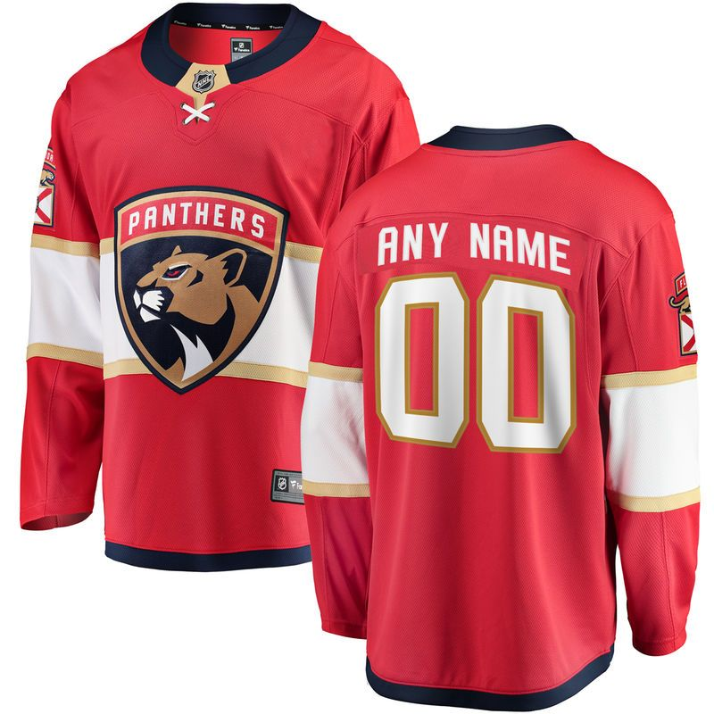 Florida Panthers Fanatics Branded Youth Home Breakaway Custom Jersey - Red 224640ccc