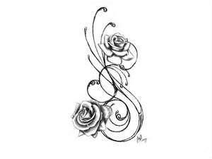 Resultado de imagen de plantillas tatuajes rosas