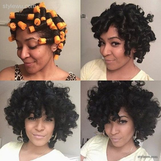 Perm Rods On Relaxed Hair 1 Relaxed Hair Perm Rod Set Natural Hair Styles