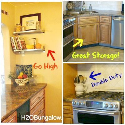 How To Organize A Small Kitchen And Get More Space   Small space ...
