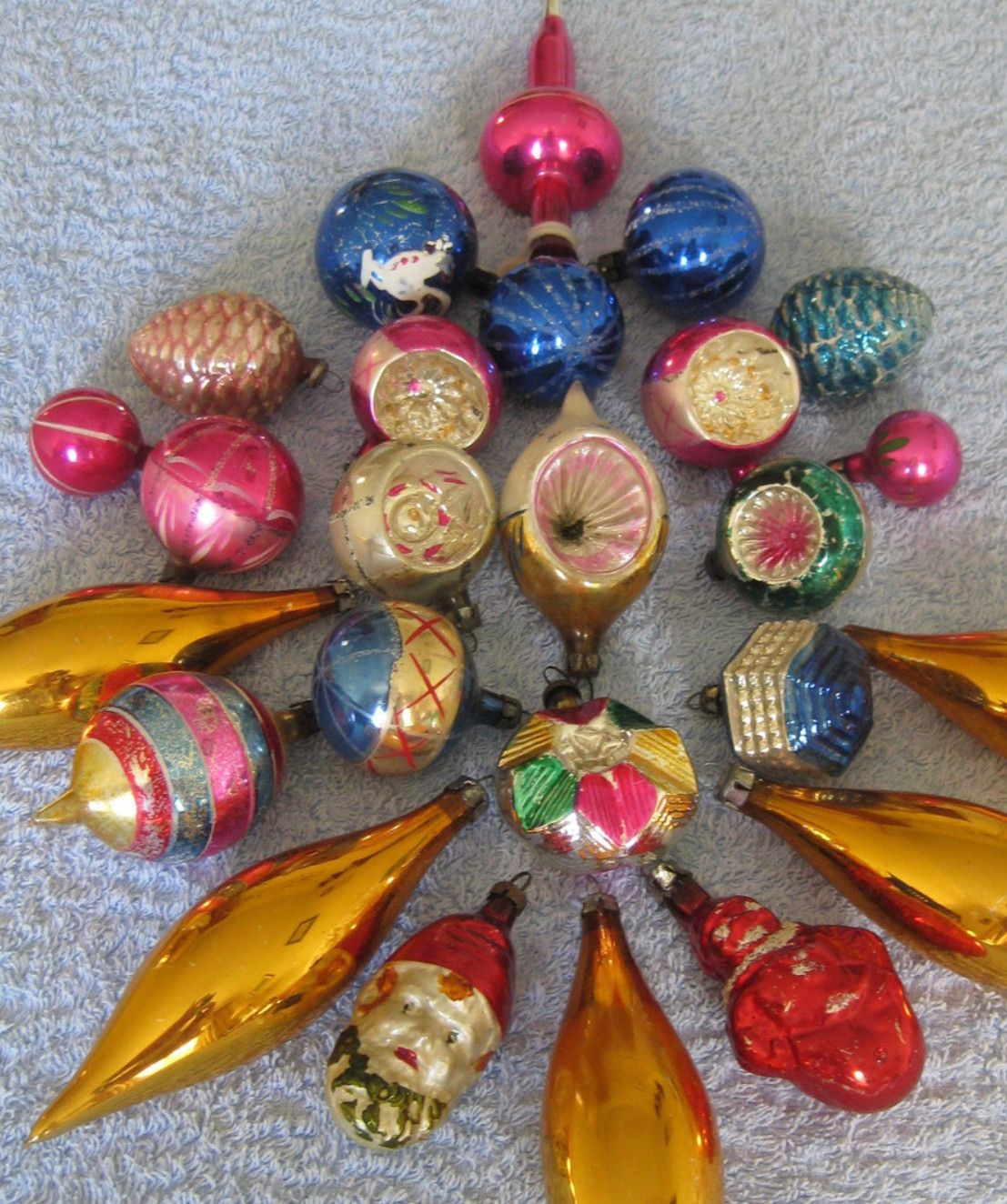 Vintage Christmas Glass Baubles