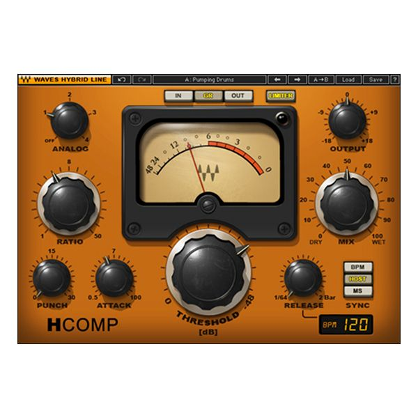 H Comp Is A Dynamics Processor That Combines The Modeled Behavior Of Transformers Tubes And Transistors All In One Easy To Use Plug With Images Plugins Waves Audio Waves