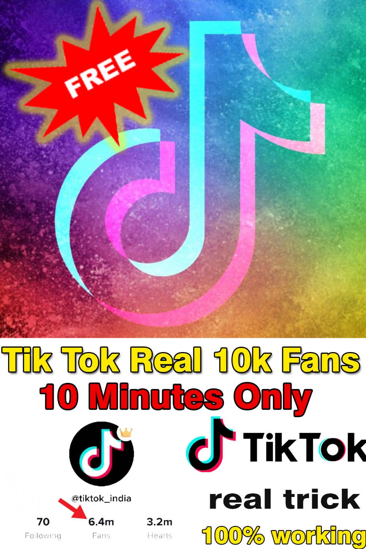 How To Increase Free Tiktok Real Followers Fans 2020 Real Followers Free Real