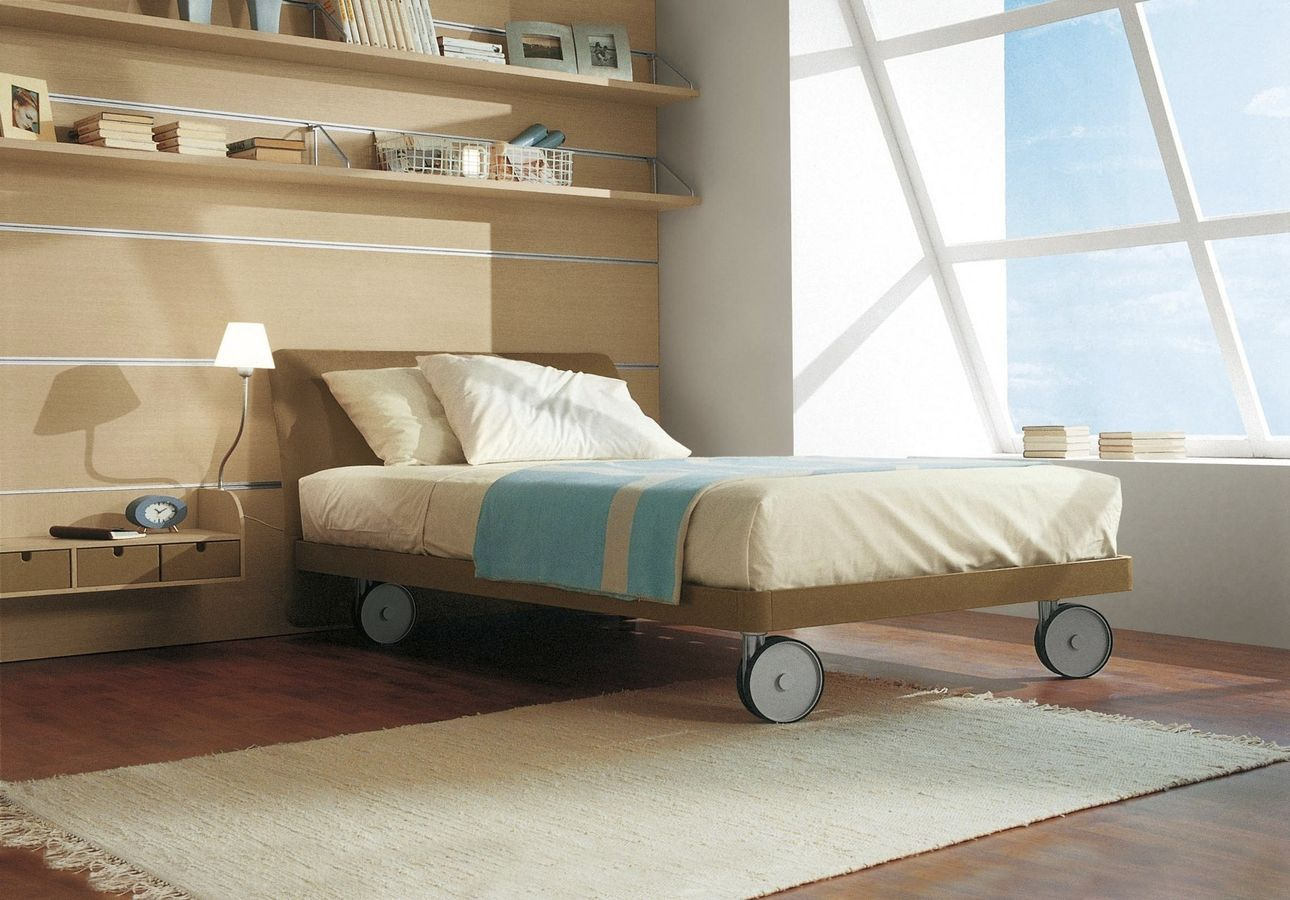 Sangiorgio Mobili ~ Kids bed with casters unisex happy single sangiorgio mobili