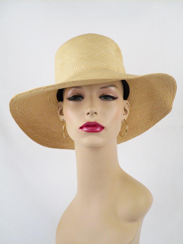 0407f6f47 Genuine Panama Ladies Fedora / Natural Toquilla Straw / Brooks ...
