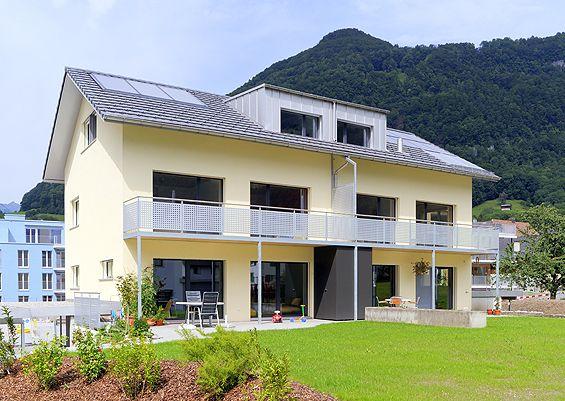 Doppeleinfamilienhaus in Holzsystembau