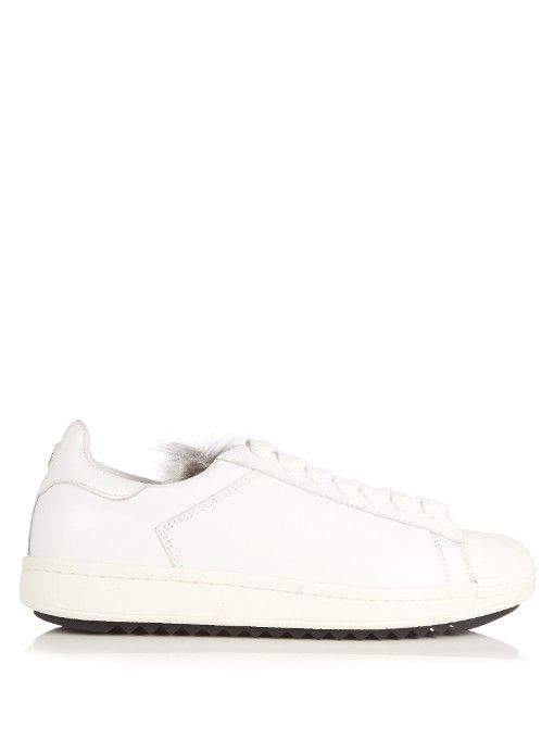 0b51b4e17419 MONCLER Angeline low-top leather trainers.  moncler  shoes  sneakers  Baskets En