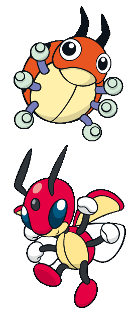 Ledyba Ledian 165 166 Evolution Pokémon Pinterest