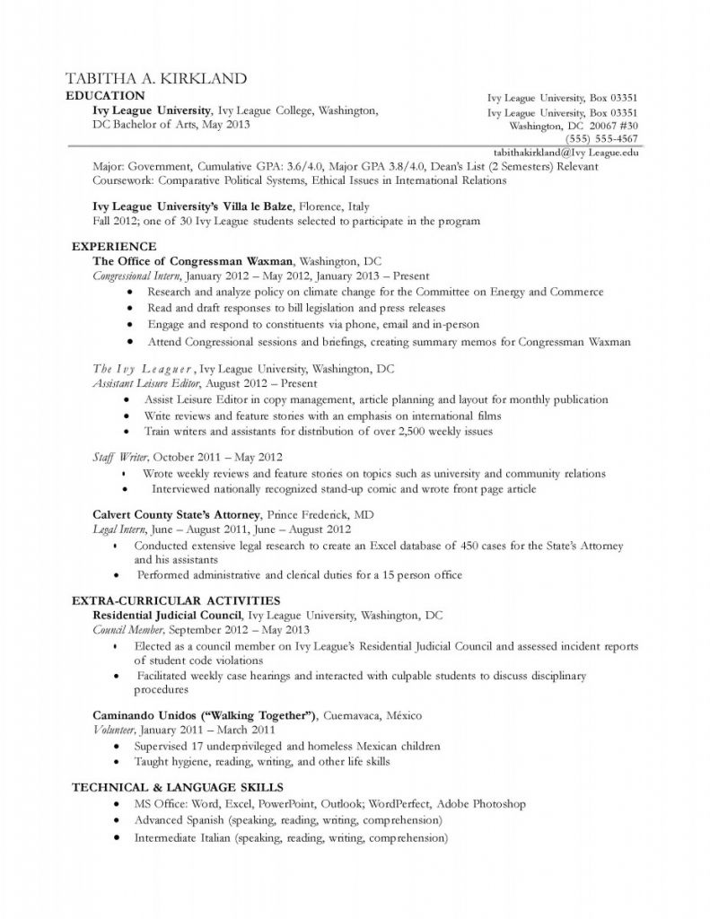 chronological resume example and letter writing samples examples ...