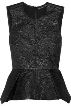 Elizabeth and James Yumi metallic brocade top in black #fashion @NET-A-PORTER Group LTD IT Careers