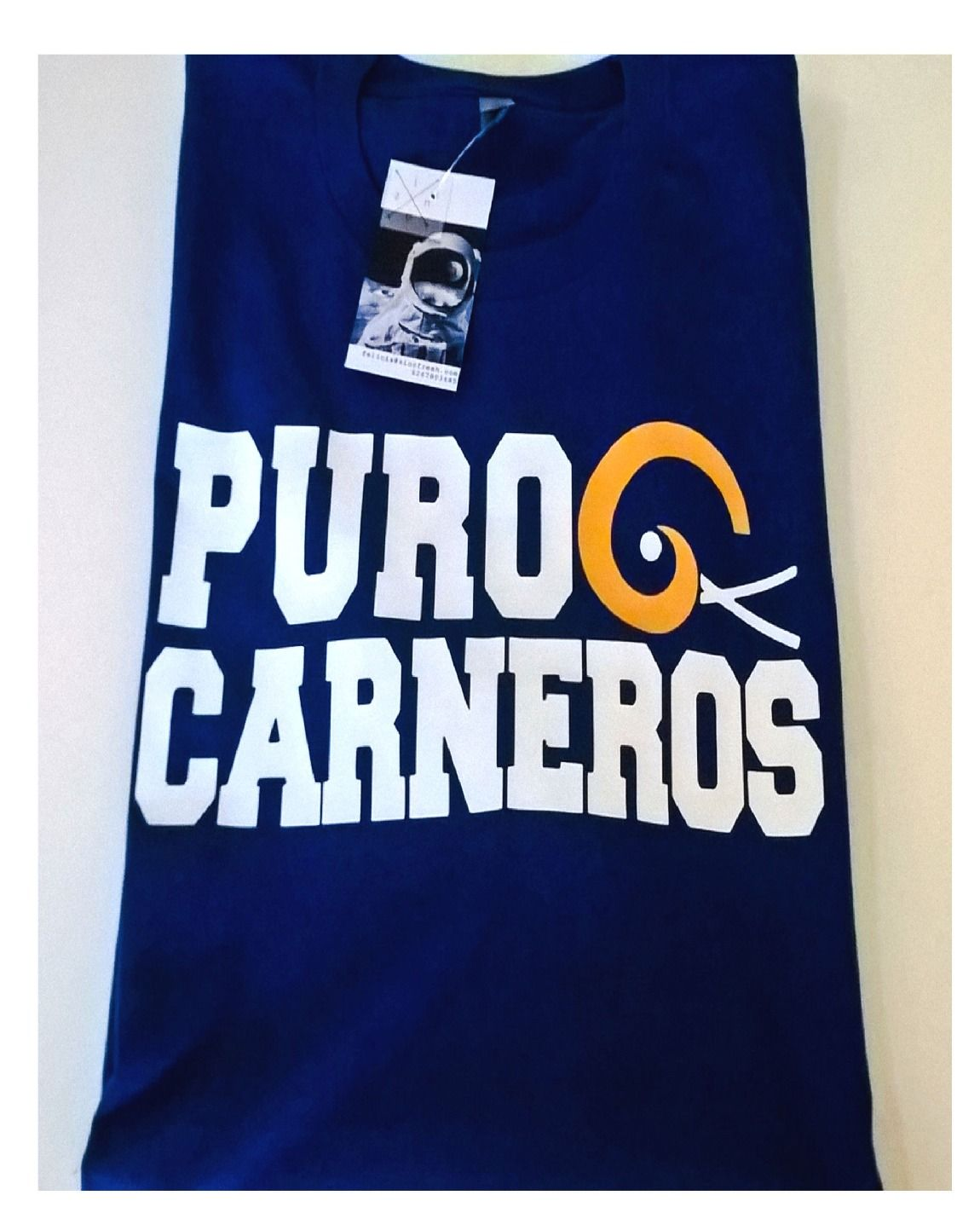 cfd397acf PURO CARNEROS - ROYAL BLUE RAMS T-SHIRT
