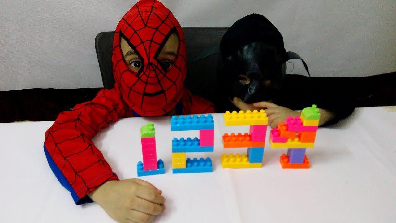العاب تعليمية العاب اطفال لعبة تكوين الارقام الانجليزية بالمكعبات Gaming Logos Spiderman Batman