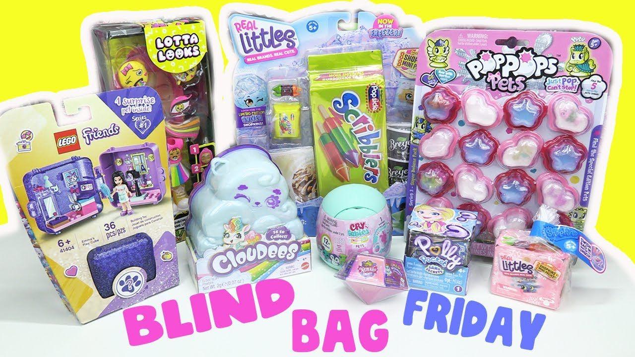 Blind Bag Friday Toys Slime Lego Friends Polly Pocket Sand Shopkins Cloudees Cry Babies Youtube In 2020 Lego Friends Blind Bags Pocket Sand