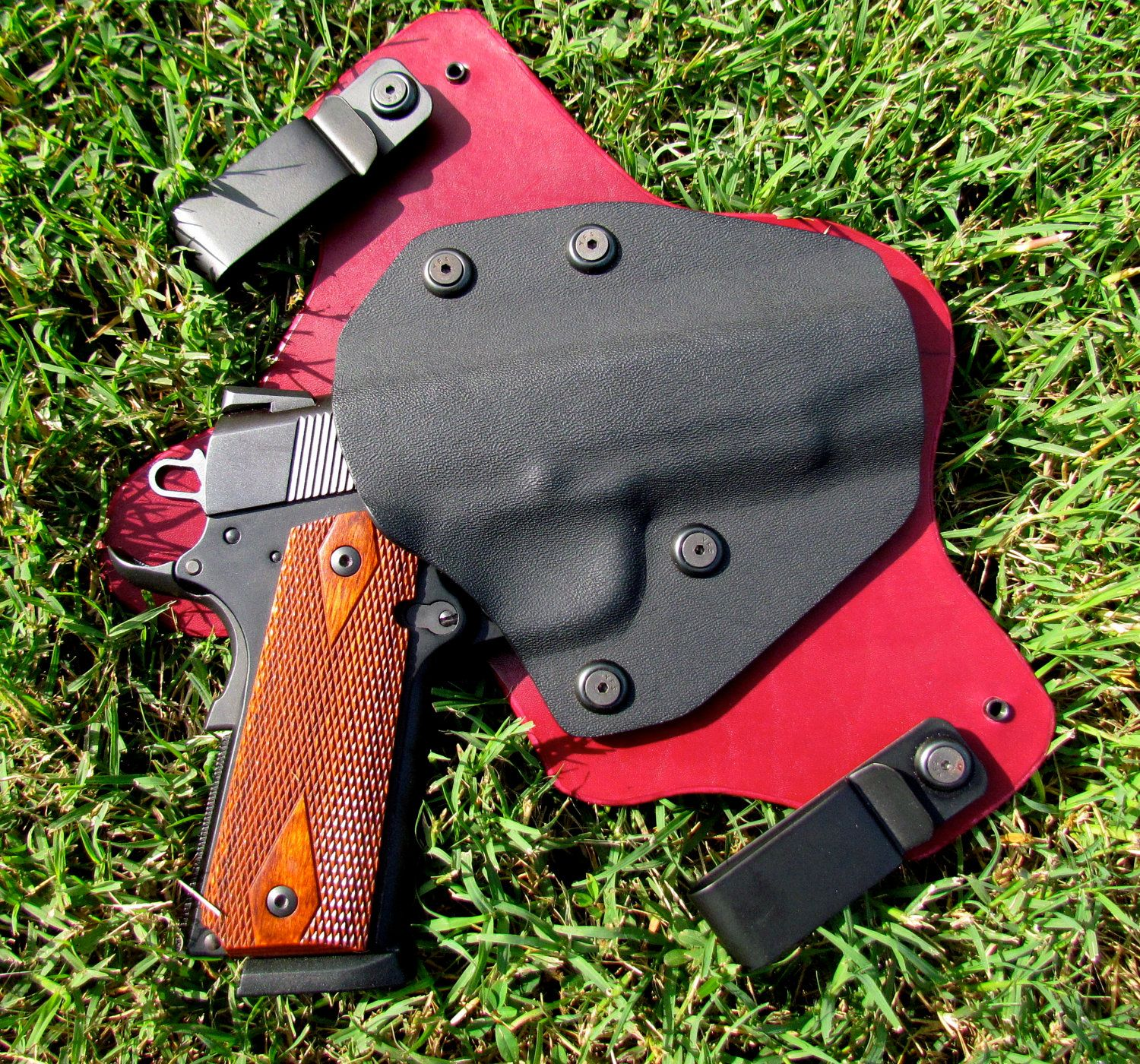 Custom made Inside waistband concealed holster made from leather and kydex. $75.00, via Etsy.