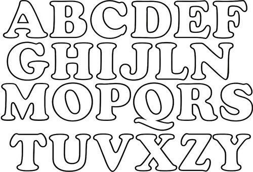 Letras Goticas Para Imprimir: Moldes De Letras Para Imprimir Para Alfabetização