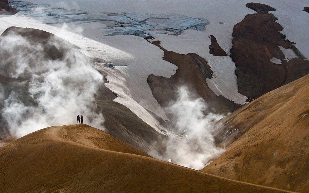 People and Nature… Kerlingarfjoll Area, Hveradalir Thermal Field, Iceland.