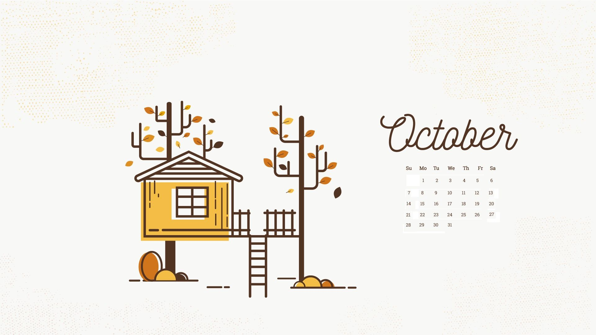October 2018 Calendar Wallpapers Calendar Wallpaper October