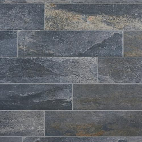 Grey Slate Kitchen Wall Tiles: Meridian Slate Gray Porcelain Tile