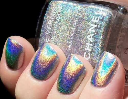 Chanel holographic nail polish | Nail Art | Chanel nails ...