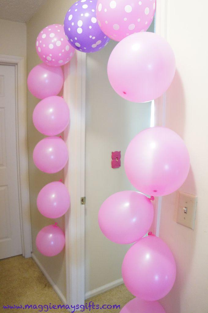 Easy Peasy Balloon Garland Rainbow Theme Party Balloon Garland Birthday Door Decorations