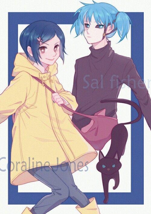 Coraline And Sal Fanart Arte Fofa Desenhos De Anime Desenho De Inspiracao