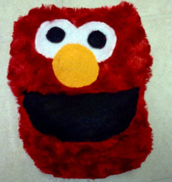 Elmo Curly Minky All In One Cloth Diaper by bugonarugdiapers, $18.00