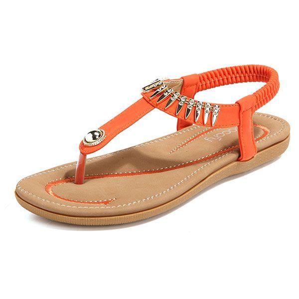 1281249b0 Sale 26% (24.58 ) - SOCOFY Big Size Women Summer Soft Sole Slip On Outdoor  Beach Sandals