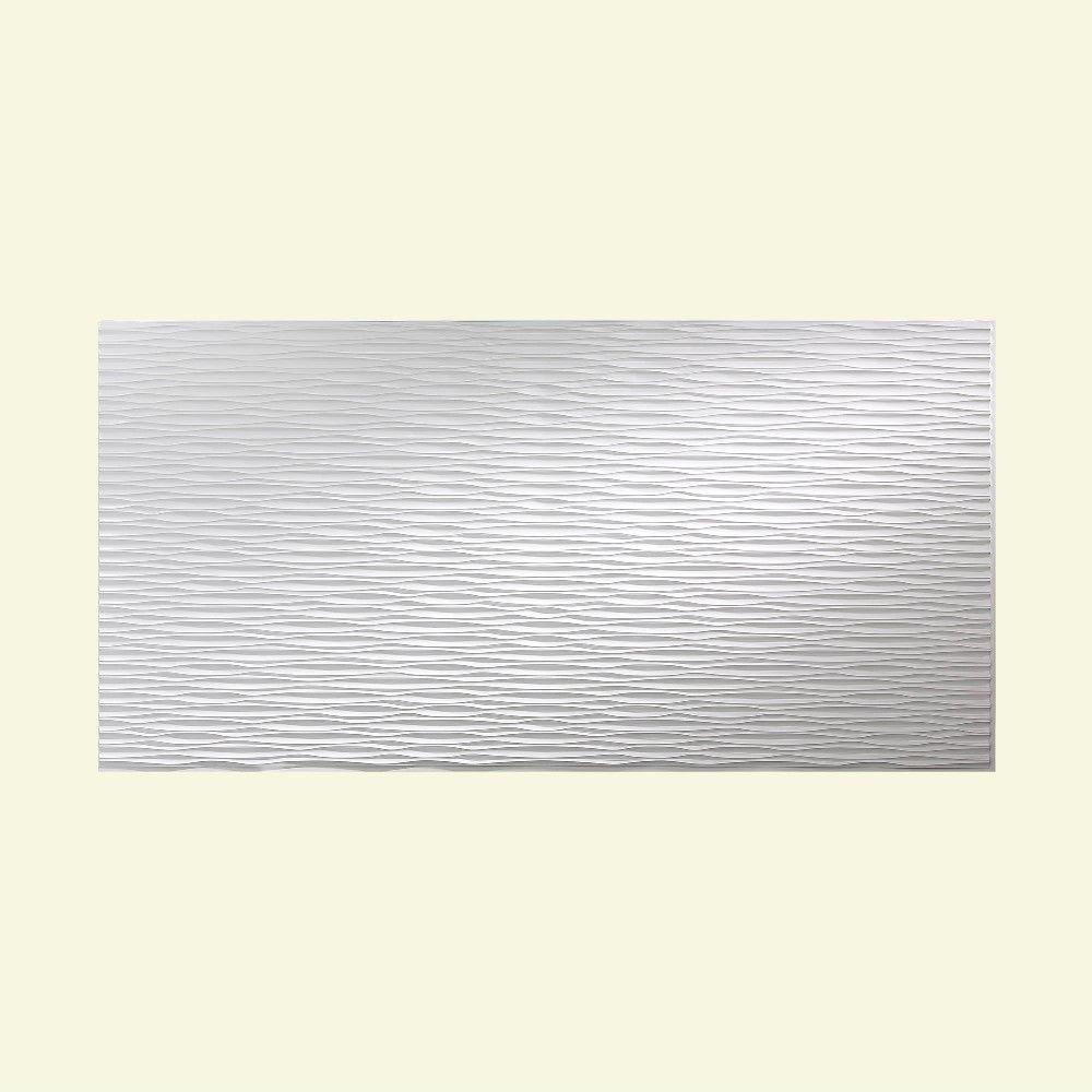 Fasade Dunes Horizontal Matte White 4-foot x 8-foot Wall Panel (Sample 12 in x 12 in Dunes Horiz Matte White)