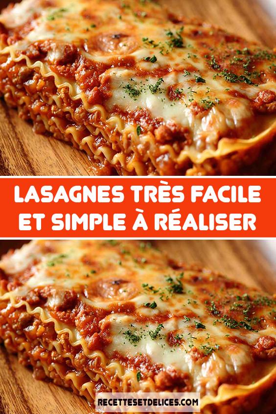 Lasagnes Tres Facile Et Simple A Realiser Lasagnes Recette Italienne Facile Recette De Plat