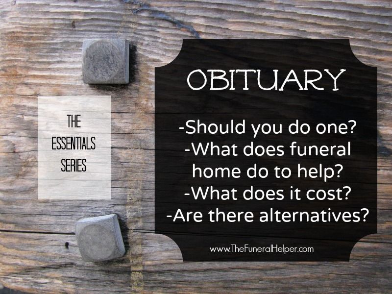 Do You Need an Obituary Death certificate, Funeral