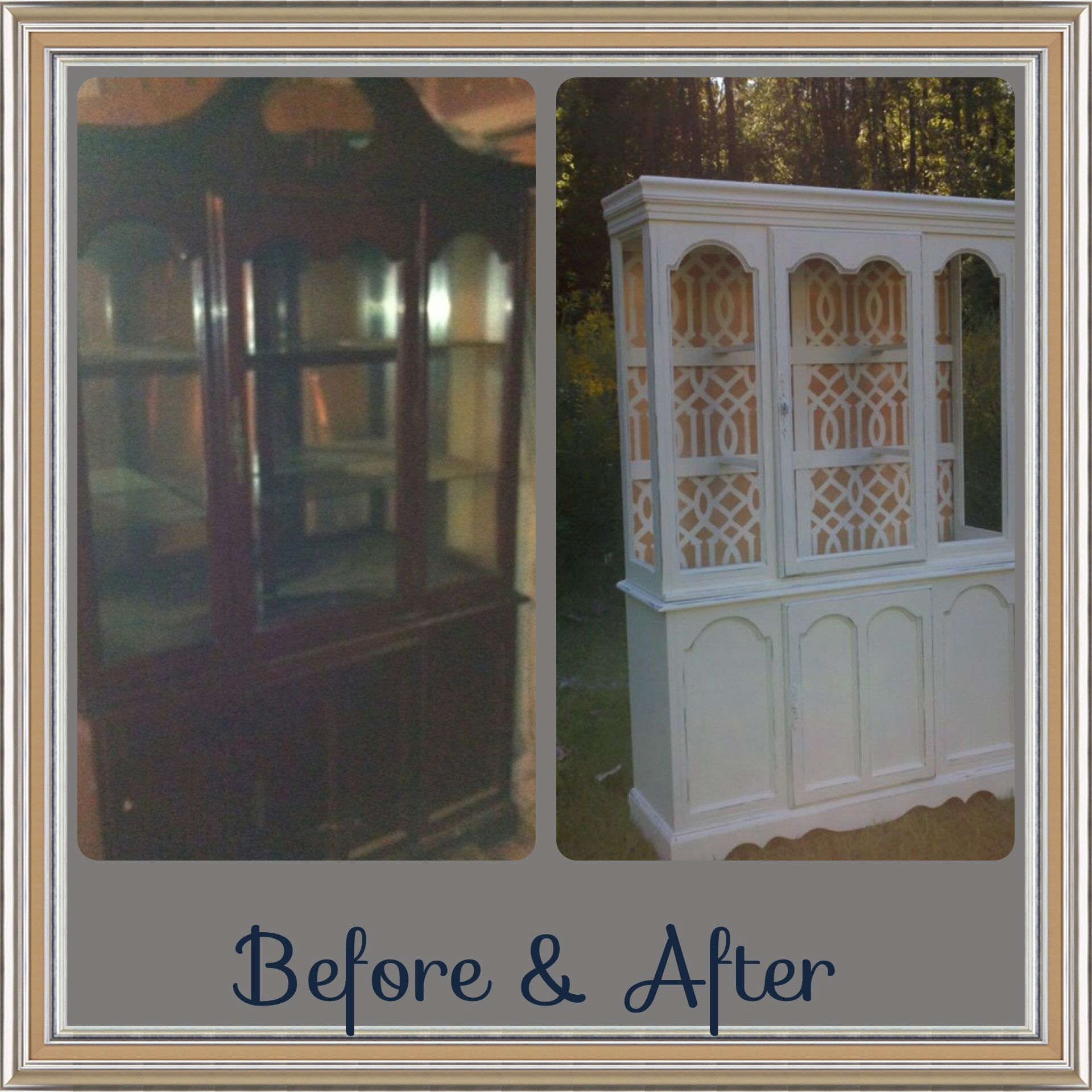 Before and after china cabinet redo facebook elaina anders designs